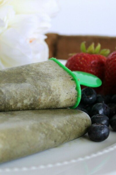 Kid Friendly Green Smoothie Popsicles