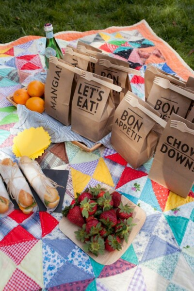 printable picnic bags