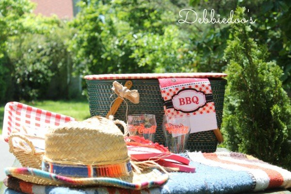 repurposed vintage picnic