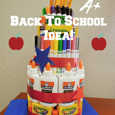 Back To School Supply Cake