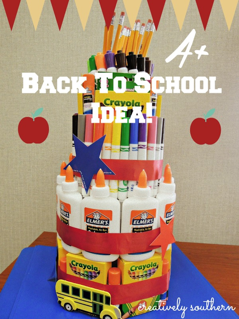 Back To School Supply Cake - The Girl Creative