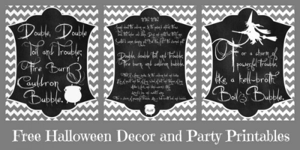 Free Halloween Decor and Party Printables!! Created by The Love Nerds and seen on The Girl Creative