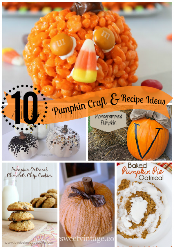 Pumpkin Craft and Recipe Ideas