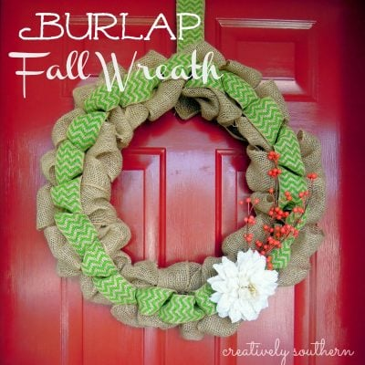 Burlap Fall Wreath