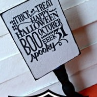 DIY Halloween Sign with Silhouette {October Specials}