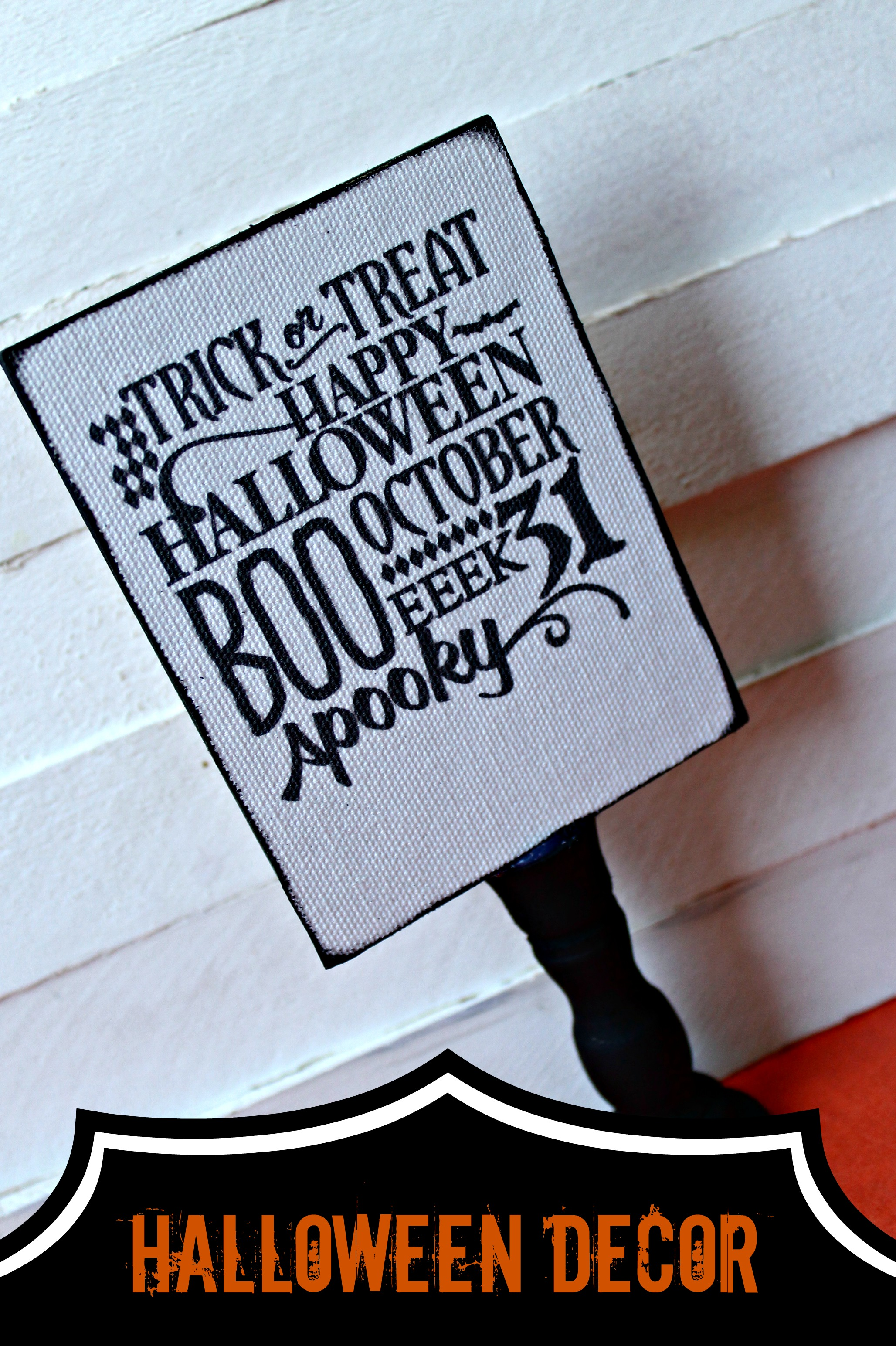 diy halloween sign with silhouette {october specials} - the girl