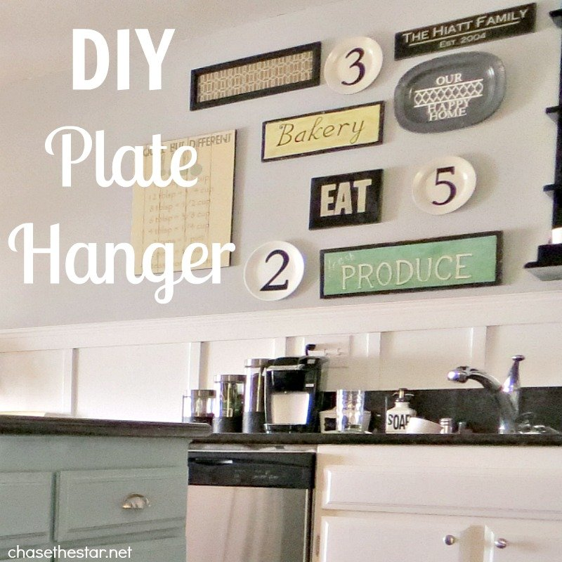 Ideas For Kitchen Wall Decor: DIY Plate Hanger