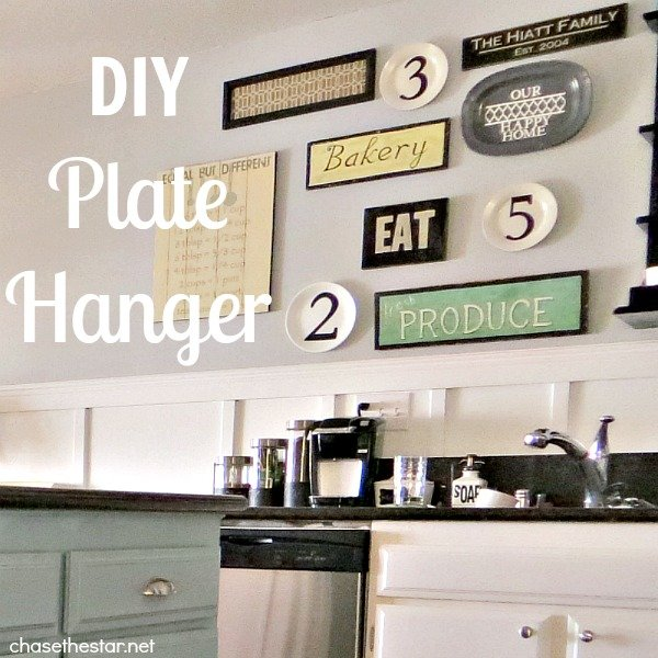 Diy plate hanger - Decorating with plates in kitchen ...