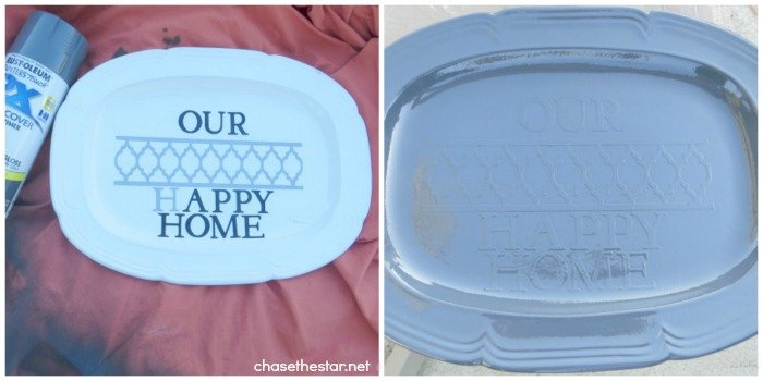 DIY Plate Hanger via Chase the Star for The Girl Creative blog