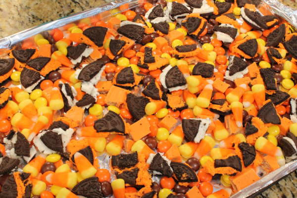 crushed up halloween candy