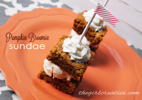 Pumpkin Brownie Sundae