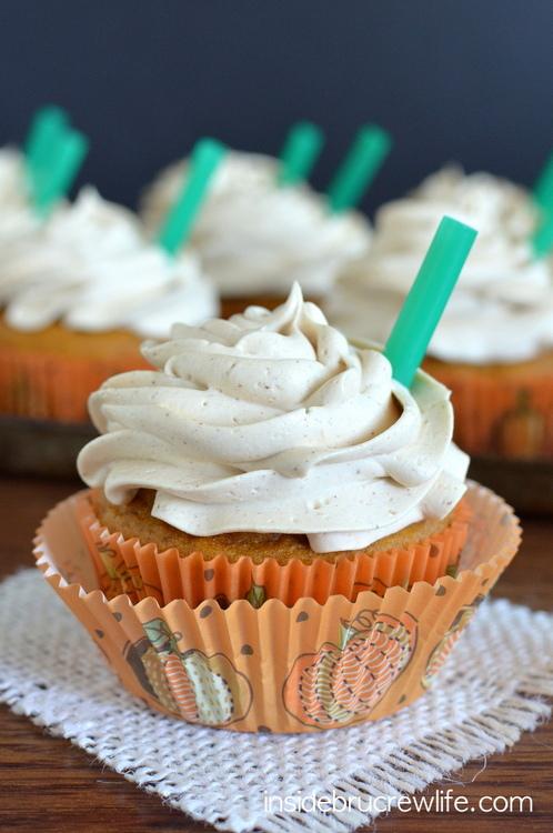 pumpkin spice latte cupcakes