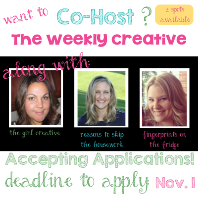Wanna be a PERMANENT co-host of The Weekly Creative?