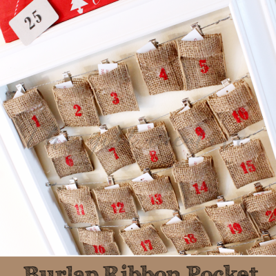 Burlap Ribbon Advent Calendar + Activities List