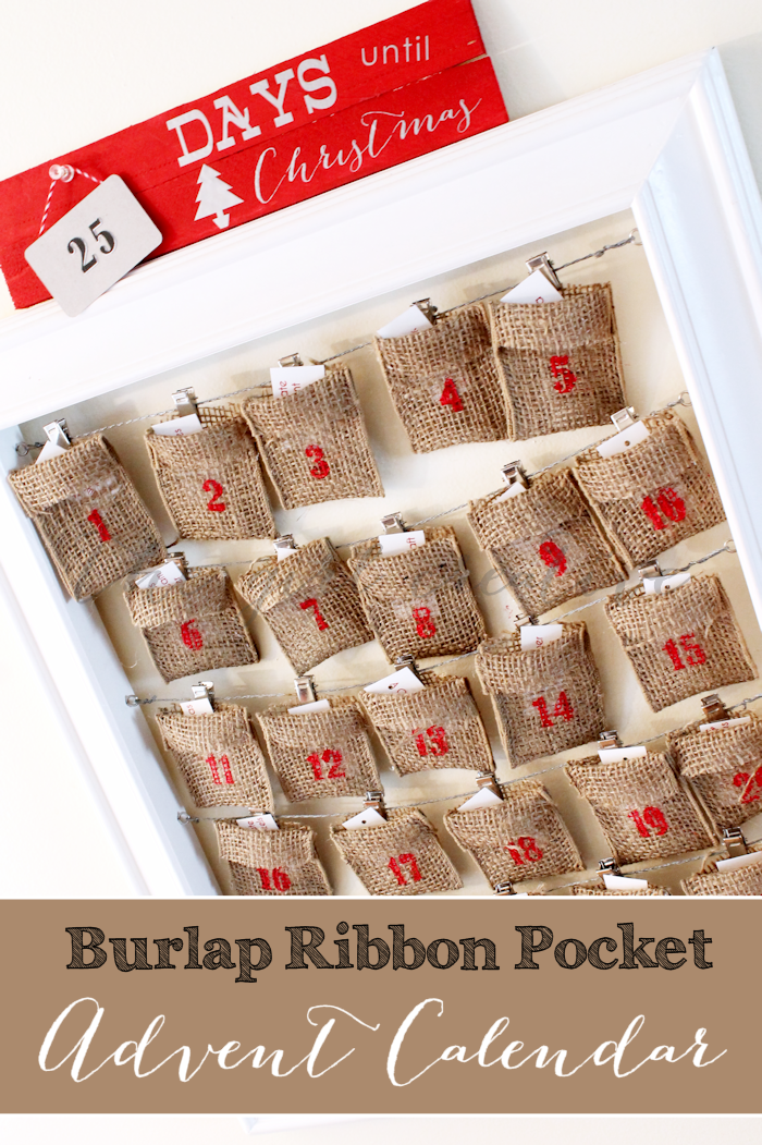 Burlap Ribbon Advent Calendar