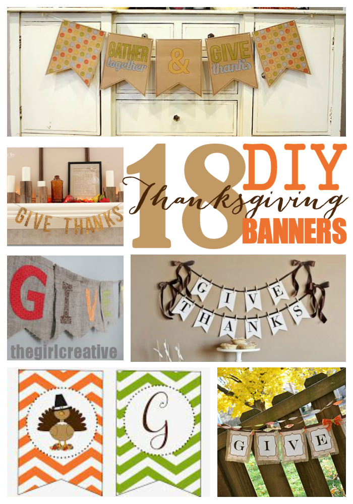 DIY Thanksgiving banner roundup