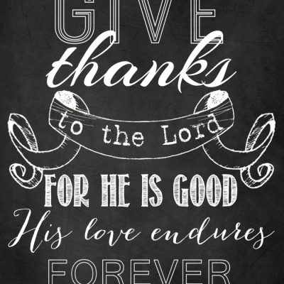 Give Thanks Chalkboard Art {Free Printable}