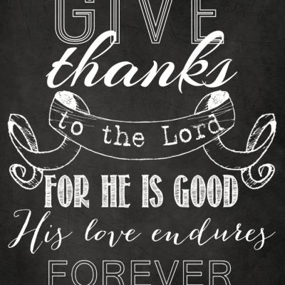 Give Thanks Chalkboard Art {Free Printable}