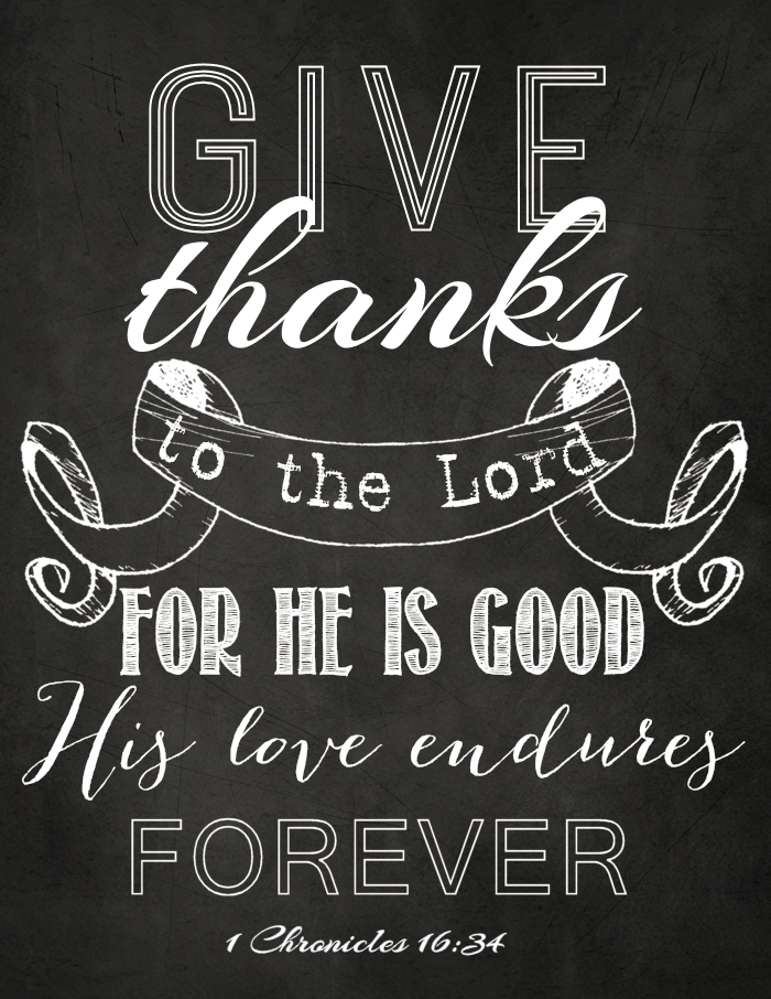 picture relating to Give Thanks Printable titled Supply Because of Chalkboard Artwork Cost-free Printable - The Lady Resourceful