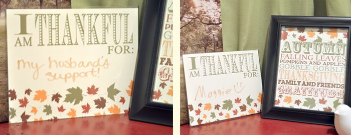 Thankful Sign Printed and Framed