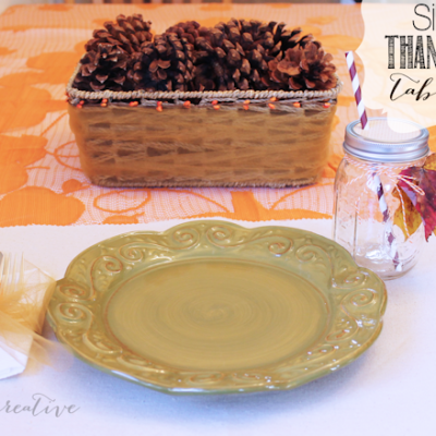 Simple Thanksgiving Tablescape + 50% off Coupon to Joann Fabric and Craft Stores