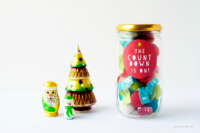 advent in a jar