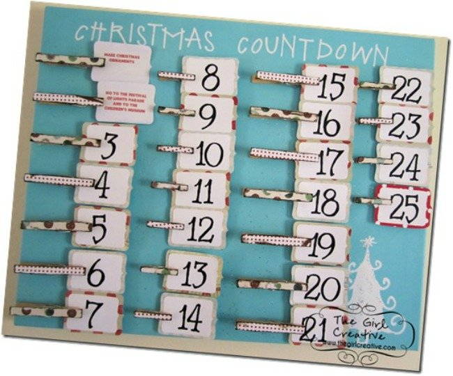 clothes pin advent