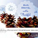 holiday pinecone placecard holders