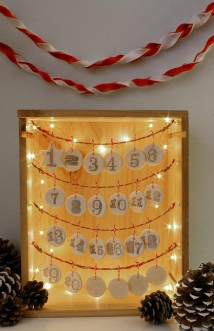 lighted advent calendar