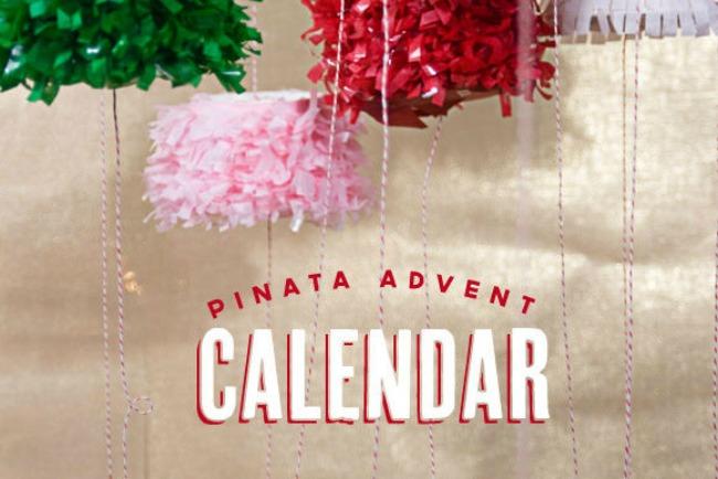 pinata advent calendar