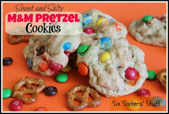 sweet and salty mm cookies