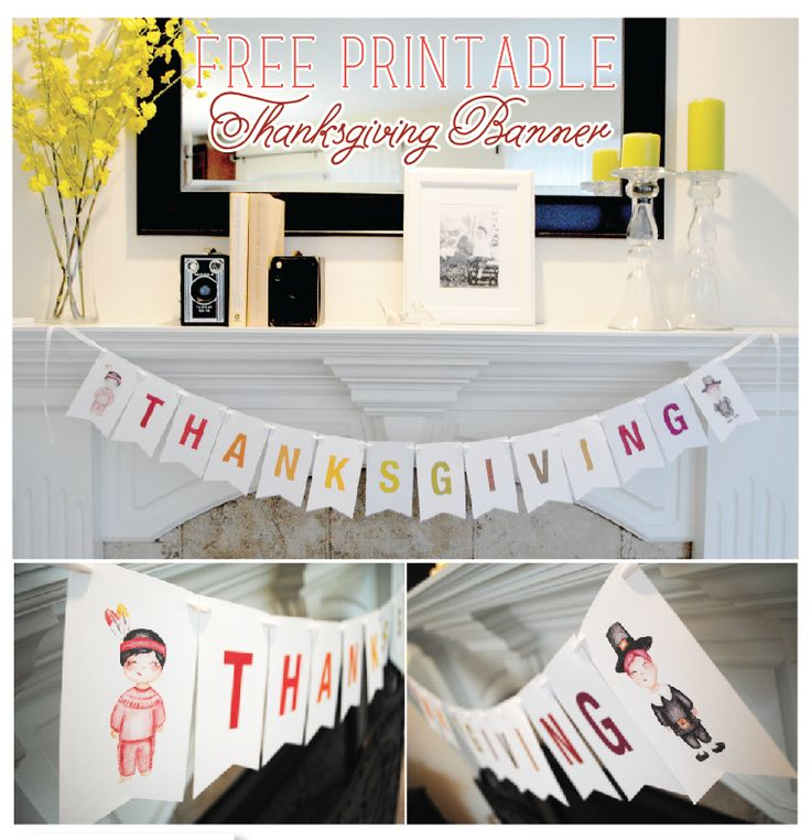 photo about Printable Thanksgiving Banners identify 18 Do it yourself Thanksgiving Banners - The Lady Artistic