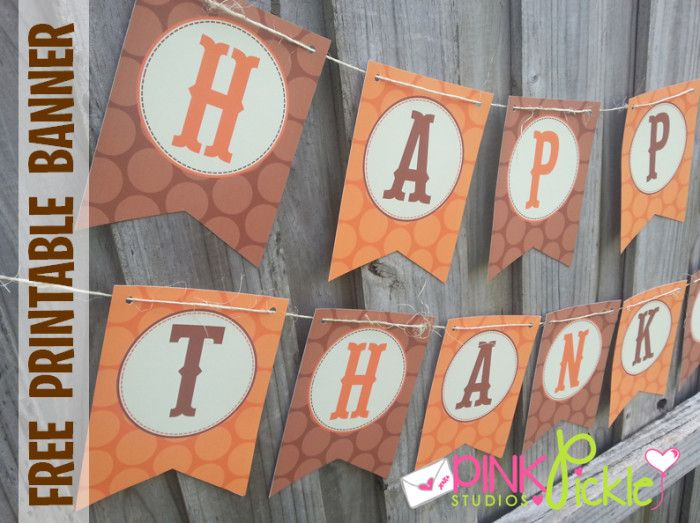 picture relating to Printable Thanksgiving Banners identify 18 Do it yourself Thanksgiving Banners - The Woman Inventive