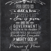 Unto Us A Child is Born Printable