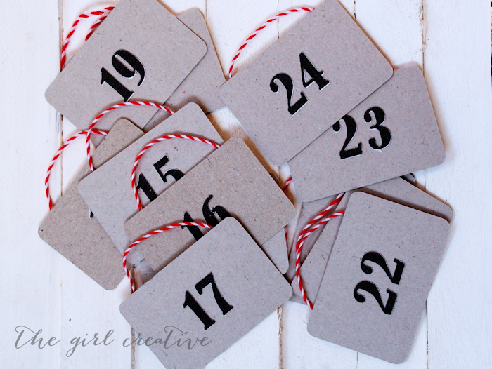 Christmas Countdown Sign Numbers
