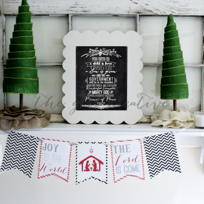 Joy to the World Banner {Free Printable}
