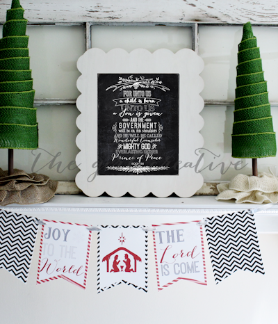 For Unto Us A Child is Born Printable