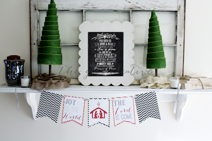Joy to the World Printable Banner