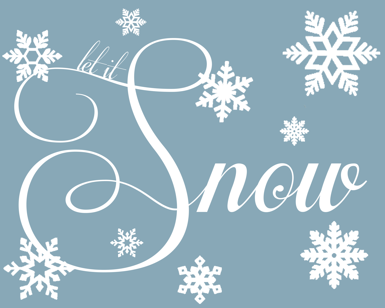 Let It Snow! {Free Christmas Printable} - The Girl Creative