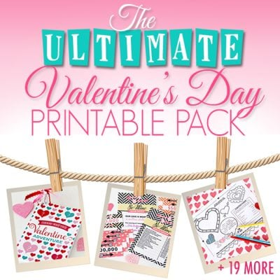 The Ultimate Valentine's Day Printable Pack – 121 pages of PRINTABLES!!