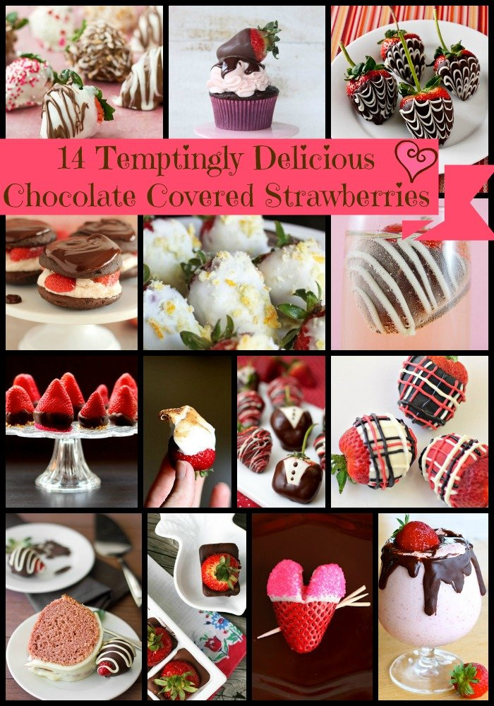 14 chocolate covered strawberries