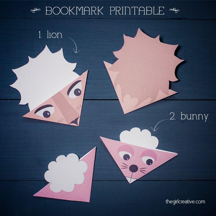 Animal Bookmarks 1 sq