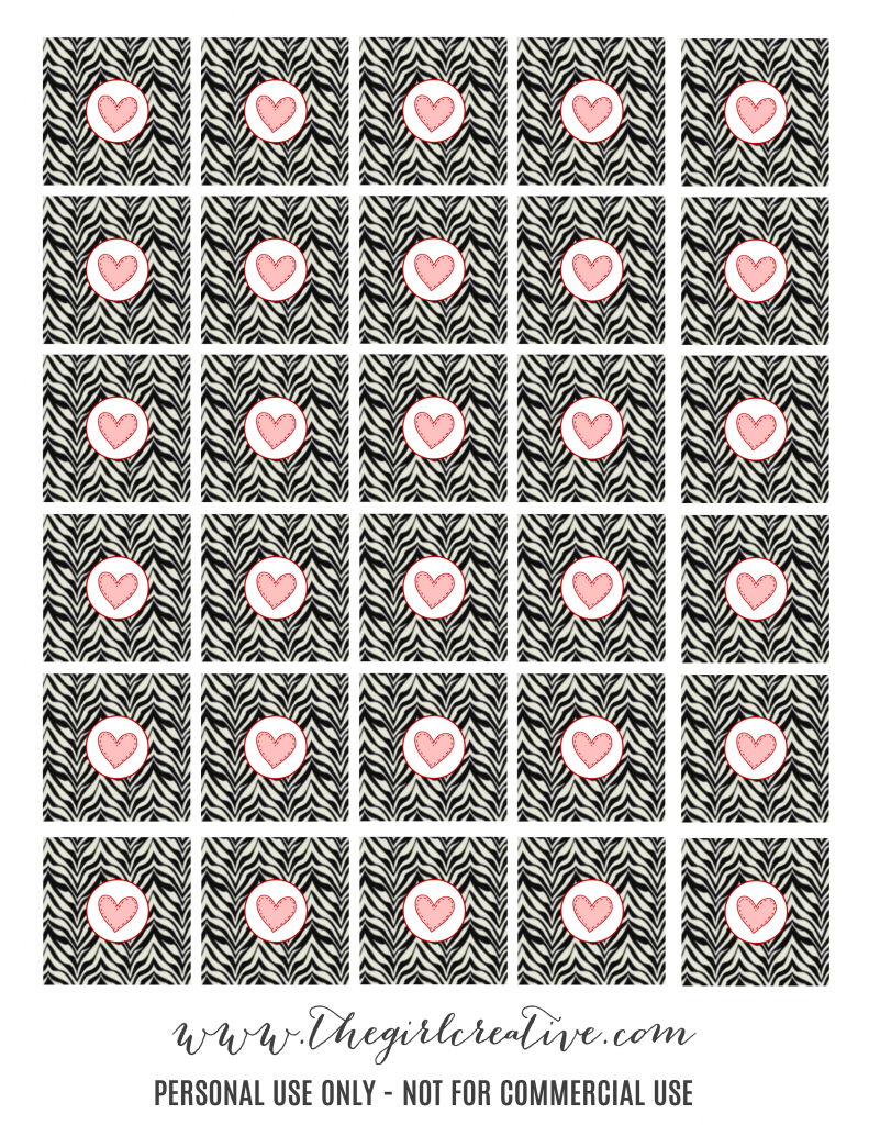 Printable Hershey Kiss Labels