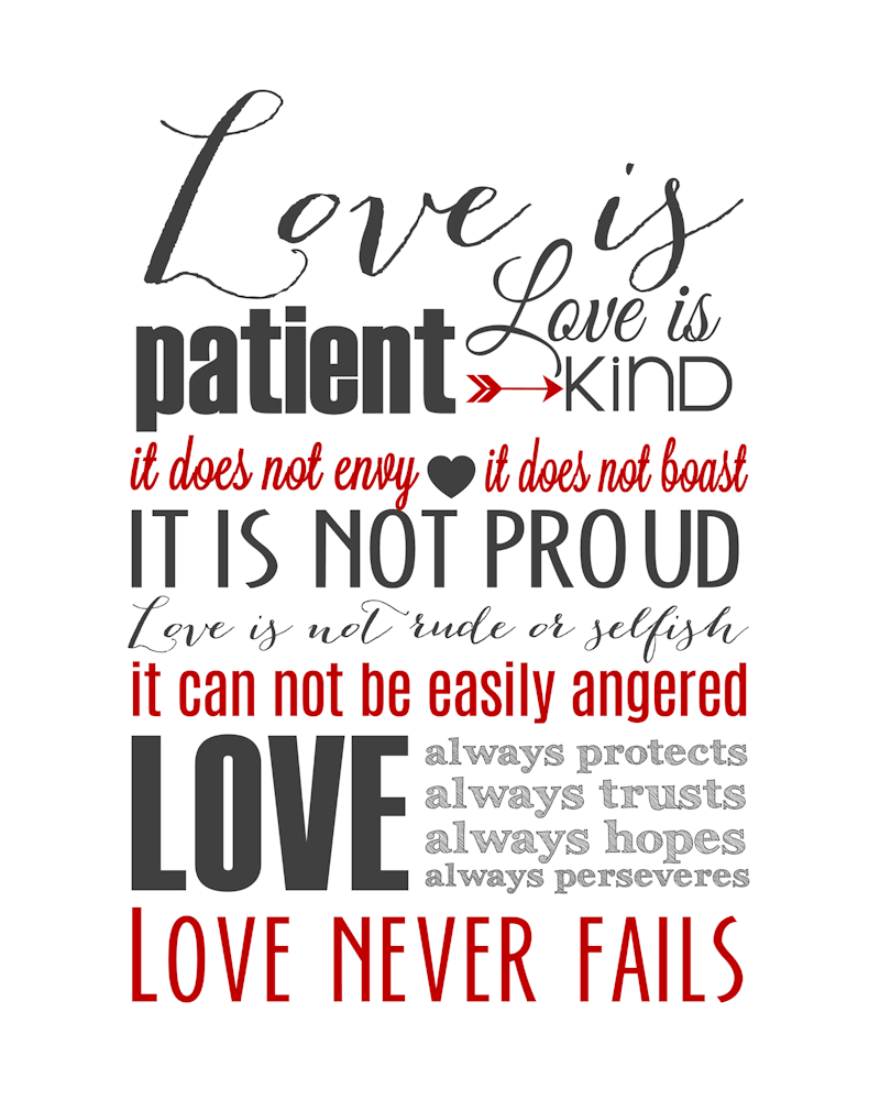 Corinthians Love Quotes Love Is Patient Subway Art Printable 1 Corinthians 13  The Girl