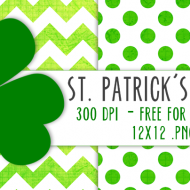 Printable St. Patrick's Day Scrapbook Paper