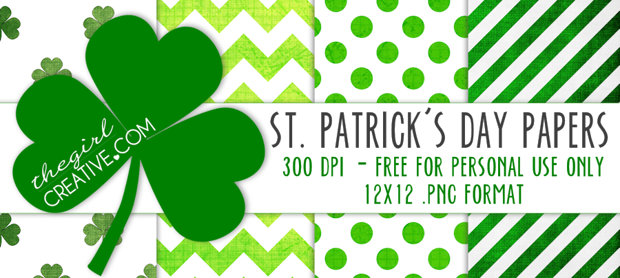 St. Patrick's Day Paper Slider