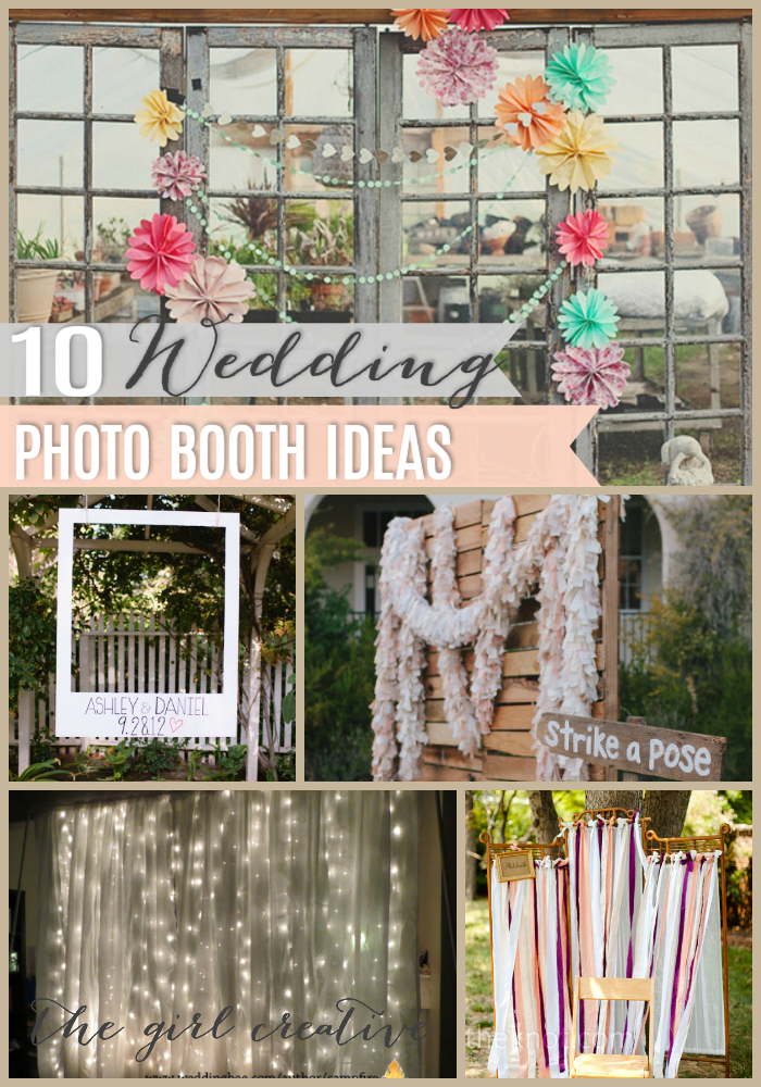 photo booth background ideas for spring - 10 DIY Wedding Booths The Girl Creative