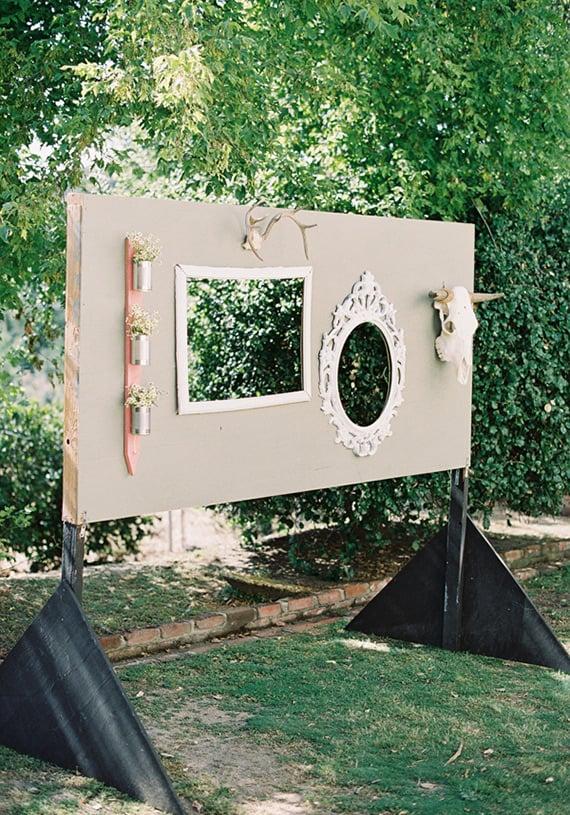 10 diy wedding photo booths the girl creative. Black Bedroom Furniture Sets. Home Design Ideas