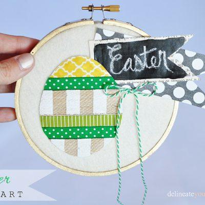 Easter Hoop Art