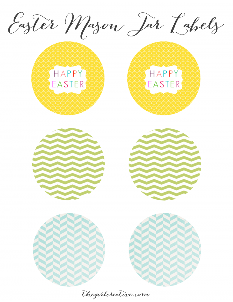 Easter Mason Jar Labels
